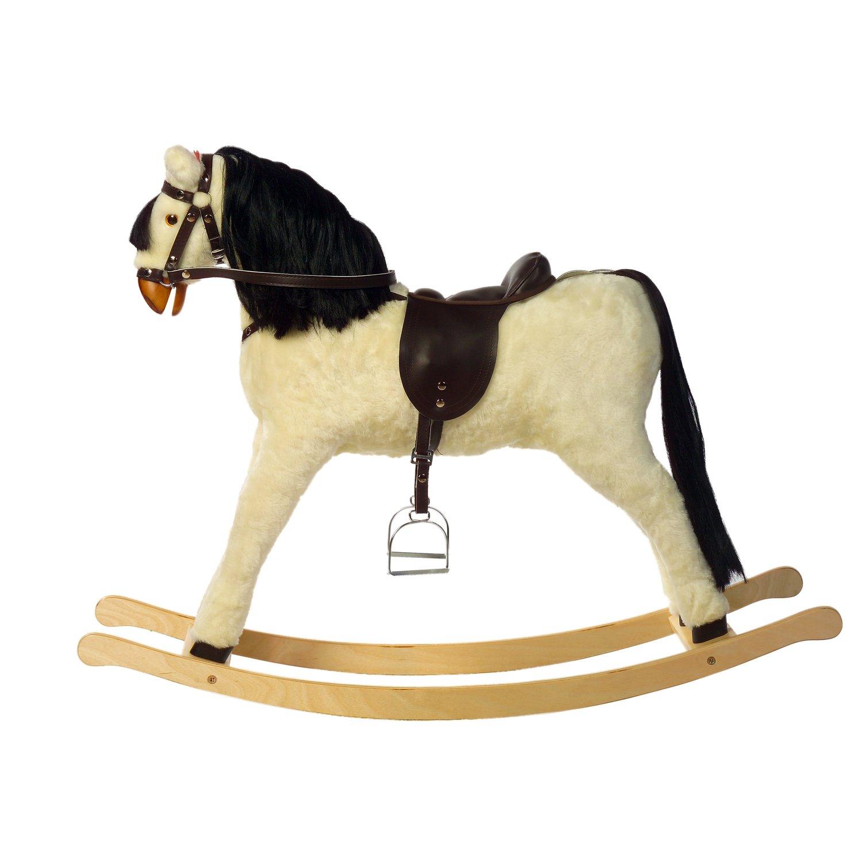 Holzspielzeug Kidsmax Schaukelpferd Princessa 75 cm Sattelhöhe Maße LBH 145 x 43 x 100 cm